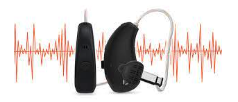 Hearing Aid with Sound Waves Behind